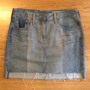 AG Denim Jean Mini Skirt